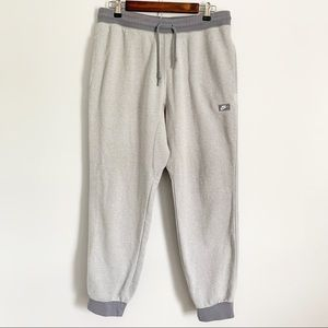 NIKE Terry Sweatpant Joggers Large Gray